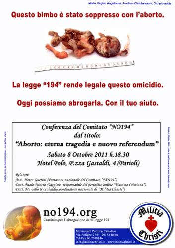 Volantino web conferenza Comitato NO194